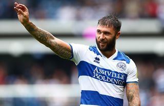 Charlie Austin in action for QPR during their 2-2 draw with Barnsley