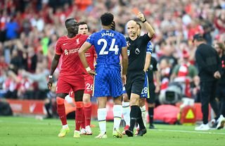 Anthony Taylor gave Reece James a red card in Chelsea vs Liverpool