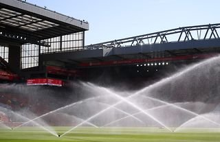 General view inside Liverpool's Anfield stadium