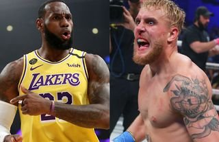 NBA legend LeBron James reacts to the Jake Paul fight