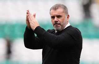 Celtic manager Ange Postecoglou applauds the fans at Parkhead