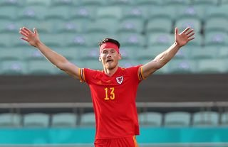 Wolves target Kieffer Moore in action for Wales