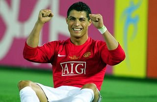 Cristiano Ronaldo in action for Manchester United
