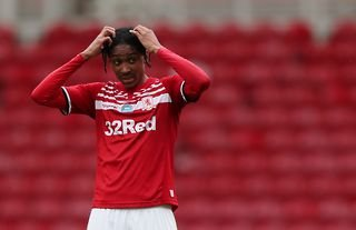 Southampton target Djed Spence in action for Middlesbrough