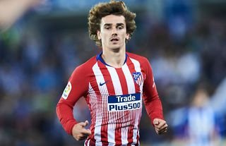 Antoine Griezmann in action for Atletico Madrid in 2019