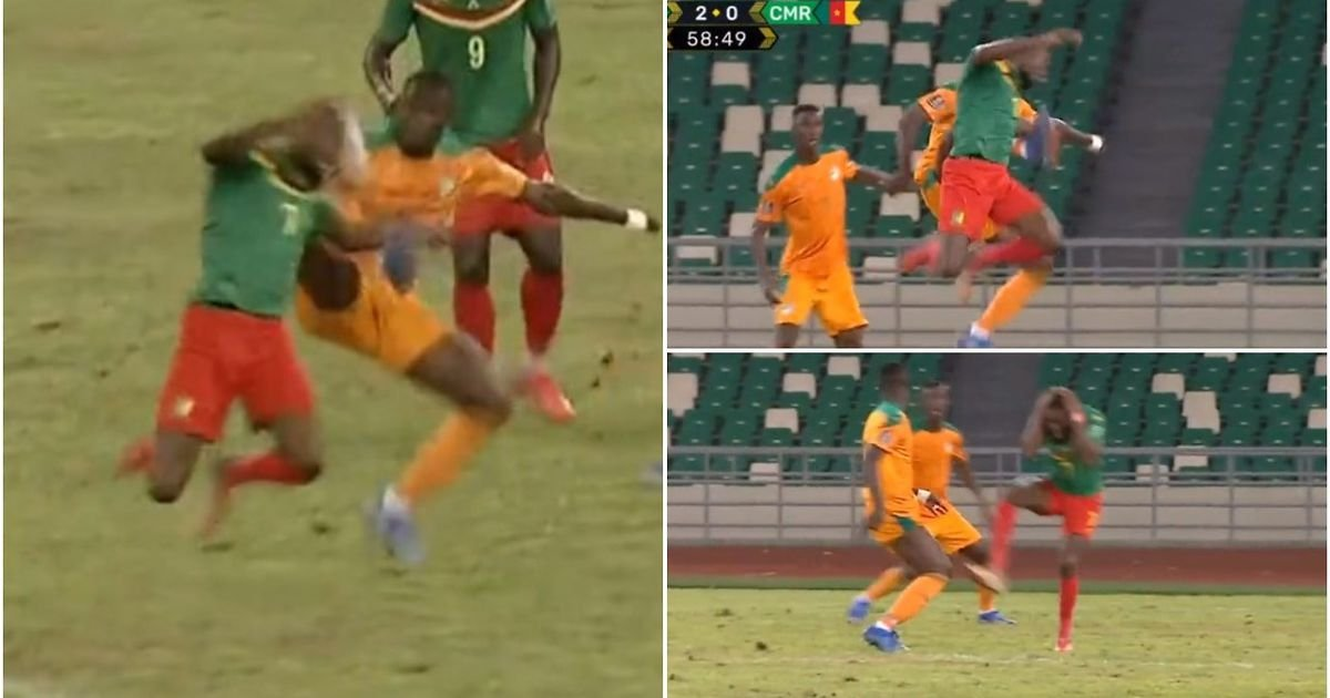 Eric Bailly: Man United man gives away penalty for karate kick in Ivory Coast 2-1 Cameroon