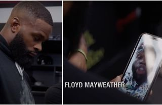 New footage emerges that shows exactly what Mayweather said to Woodley ahead of Paul fight