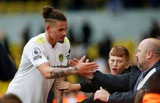 Leeds' Kalvin Phillips greeting the club's supporters