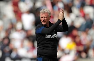 West Ham manager David Moyes clapping the club's supporters