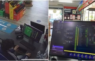 Lad gets told off by his boss after being caught playing Football Manager during shift