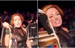 Becky Lynch gets into verbals with a fan who called her a p***y at live event