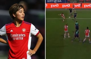 Mana Iwabuchi won Arsenal's goal of the month award after the men's team failed to score in the Premier League