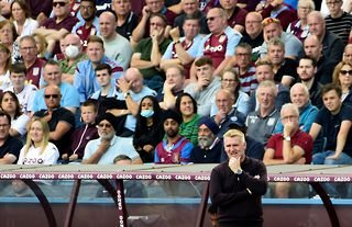 Aston Villa manager Dean Smith deep in thought