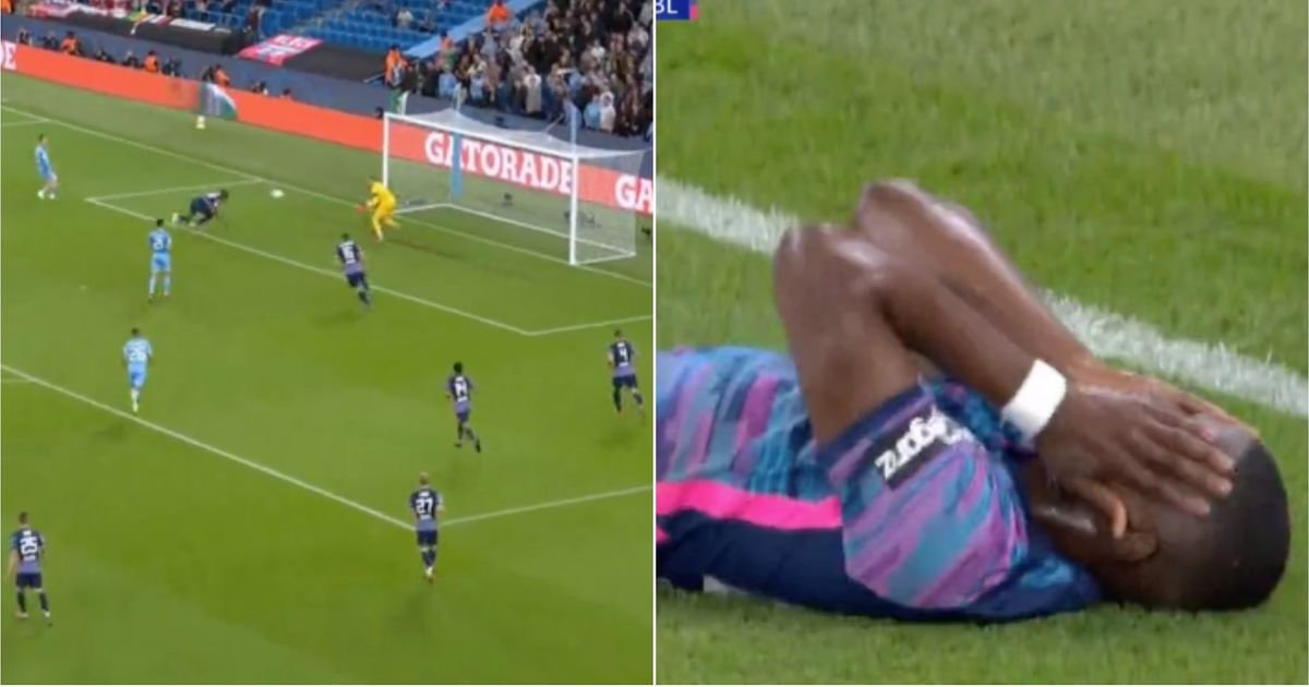 Kevin De Bruyne forced RB Leipzig's Nodi Mukelele to score the most hilarious own goal