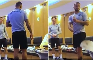 Kyle Walker was not impressed when Man City players pranked him about his FIFA 22 card