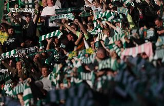 Celtic fans show their support