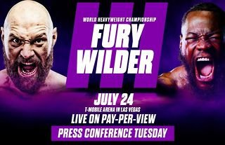 Tyson Fury vs Deontay Wilder will take place on 24th July 2021.