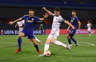 Declan Rice fires home in West Ham United's win over Dinamo Zagreb