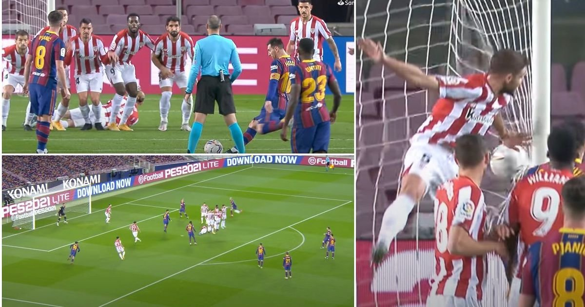 Lionel Messi even destroyed FIFA tactics with truly alien free-kick before Barcelona exit