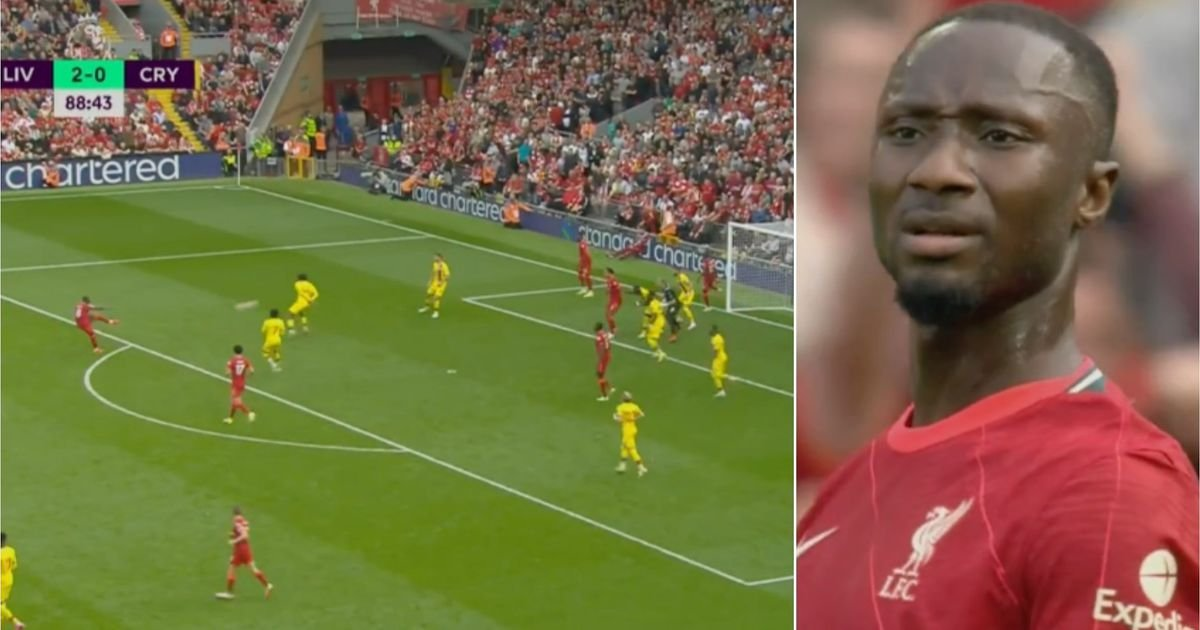 Naby Keita's face was an absolute picture after scoring venomous volley vs Crystal Palace