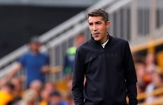 Wolves manager Bruno Lage on the touchline