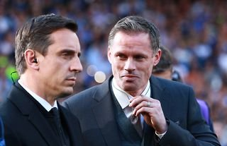 Jamie Carragher and Gary Neville