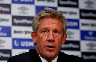 Everton's director of football Marcel Brands at a press conference