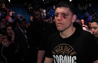 Nick Diaz finished Robbie Lawler in two rounds