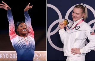 Olympic gymnast Simone Biles admitted teammate Jade Carey would have 'kicked her ass' in the floor event at Tokyo 2020