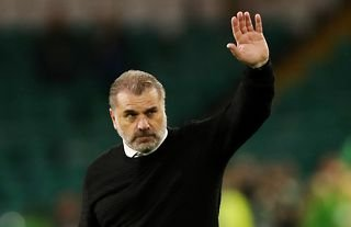 Celtic manager Ange Postecoglou waves to the club's supporters
