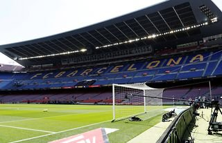 General view of the Camp Nou stadium in Barcelona
