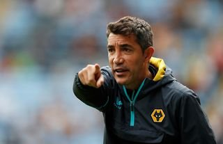 Wolves manager Bruno Lage giving instructions to his players