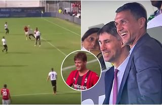 Paolo Maldini was the proudest man in the stadium after Daniel's first AC Milan goal