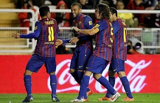 Carles Puyol stopped Dani Alves and Thiago from disrespecting Rayo in 2012
