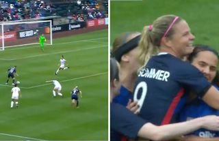 """OL Reign manager Laura Harvey claimed Eugénie Le Sommer's second goal against Orlando Pride yesterday was the """"best I've ever seen live"""""""