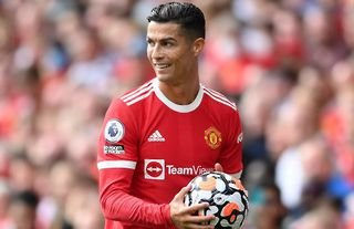 Cristiano Ronaldo in action for Man United