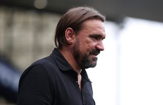 Norwich manager Daniel Farke with a hint of a smile