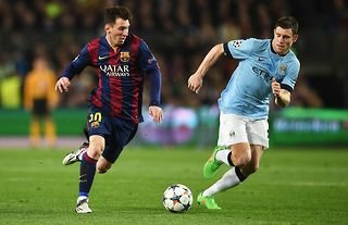James Milner will still be having nightmares about Lionel Messi...