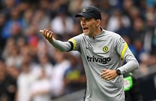 Chelsea manager Thomas Tuchel looking frustrated