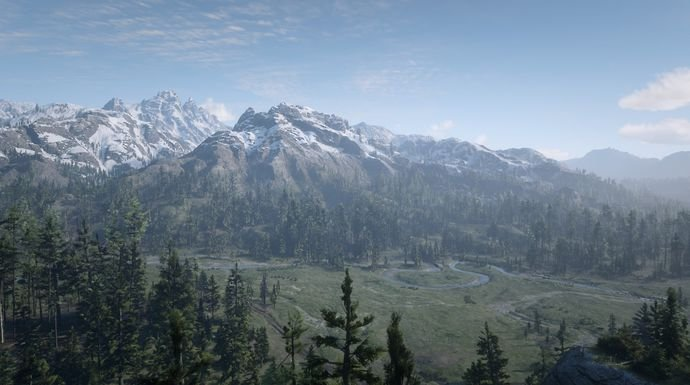 De Grand Canyon in Red Dead Redemption 2.