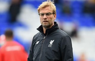 Jurgen Klopp during his first Liverpool game vs Spurs in 2015
