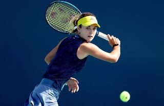 Russian tennis player Anna Kalinskaya has been one of the standout stars at Indian Wells so far