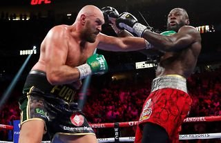 Deontay Wilder ended up in hospital after losing to Tyson Fury