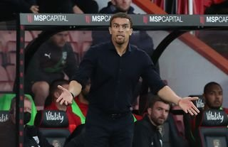 West Brom manager Valerien Ismael on the touchline