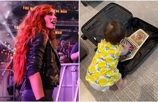 Becky Lynch has posted a rare baby photo