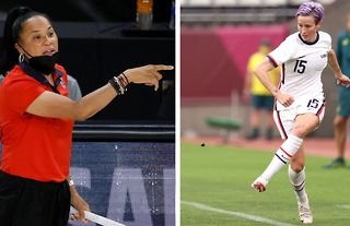 Basketball coach Dawn Staley has thanked Megan Rapinoe and the US women's national team players for their work on pushing for equal pay in sport