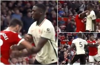 Ibrahima Konate tossed around Bruno Fernandes and Fred in Man Utd 0-5 Liverpool